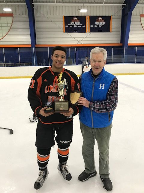Hillside hockey player makes history