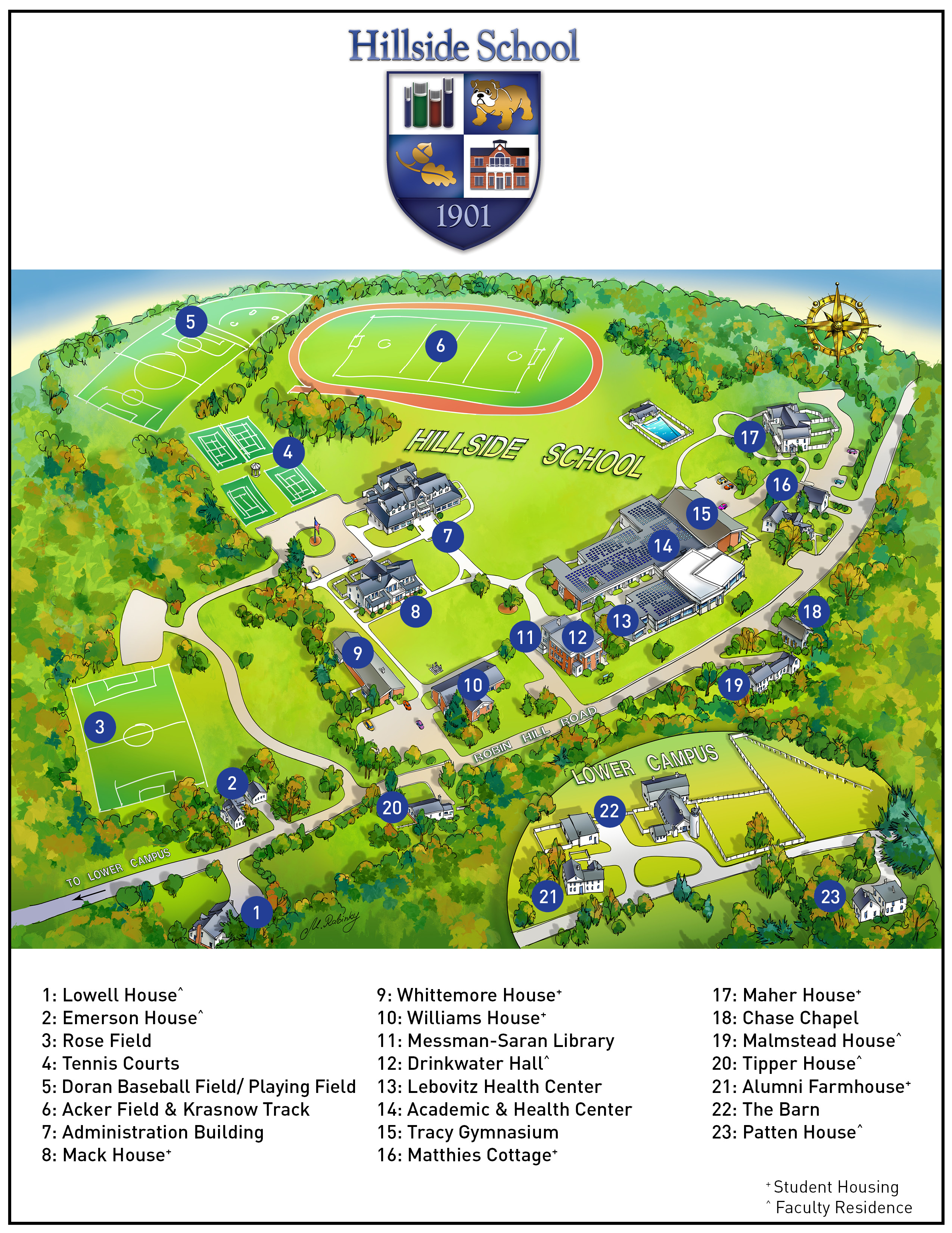 Hillside School campus map