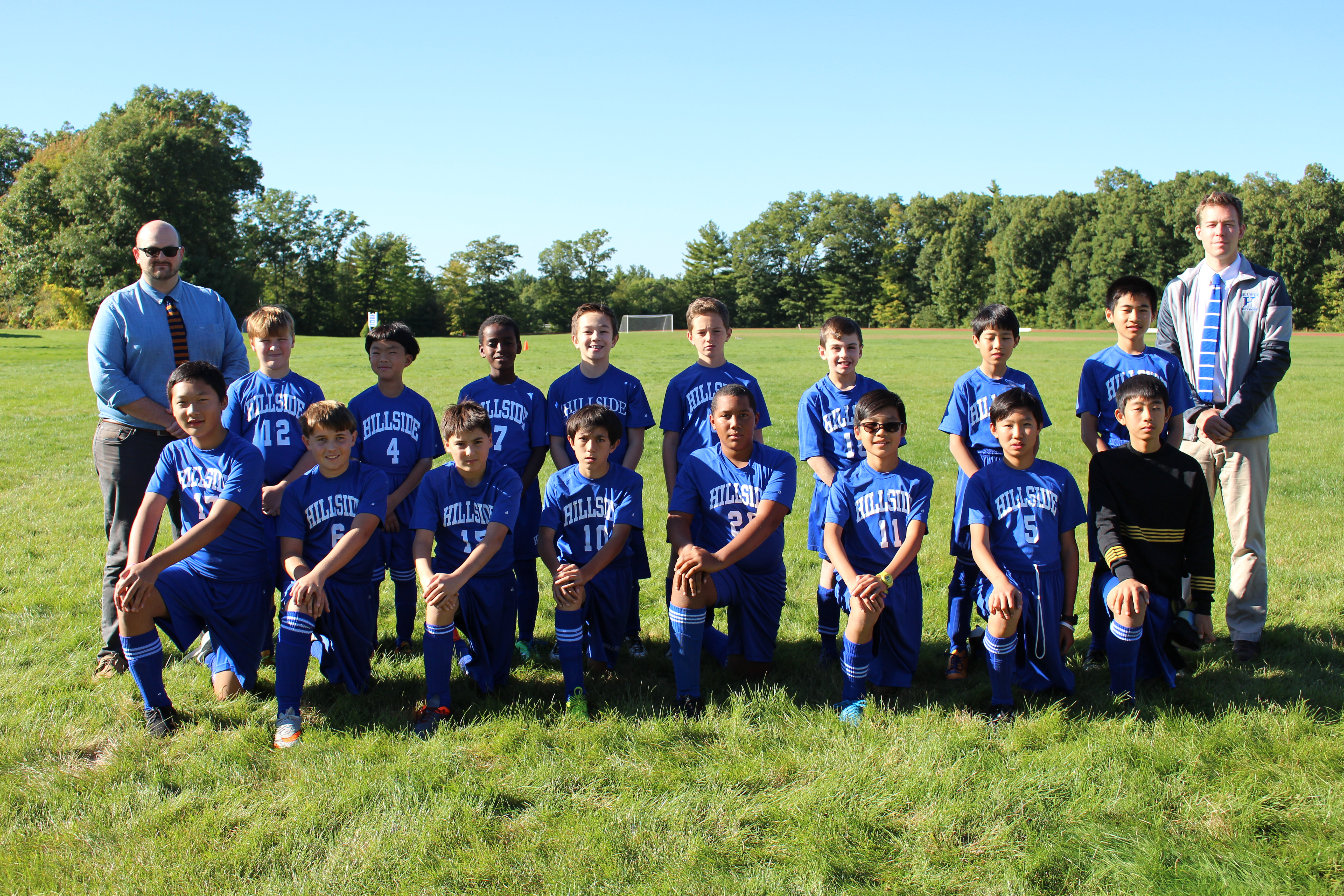 Hillside School Thirds Soccer team