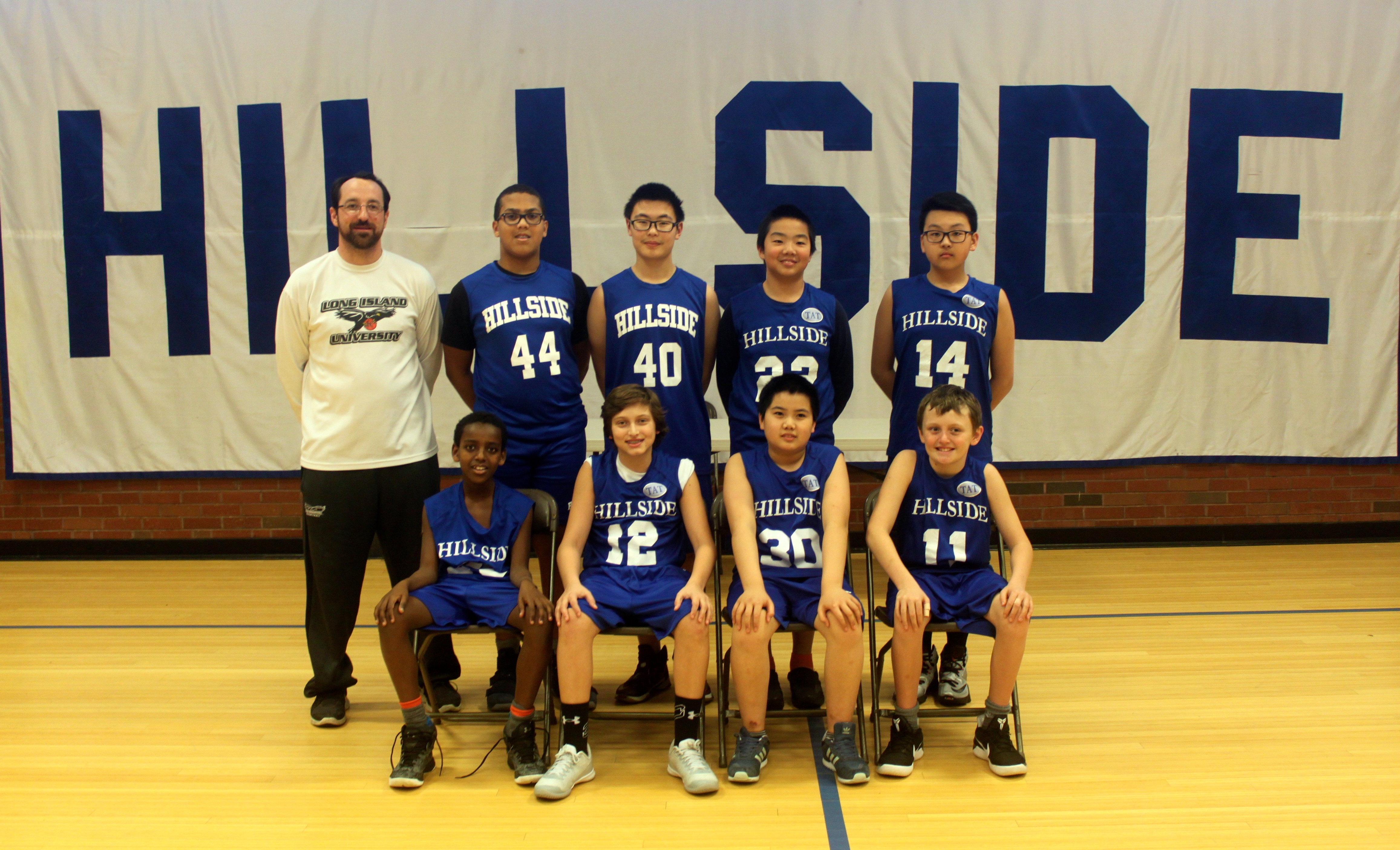 Hillside School Thirds Basketball team