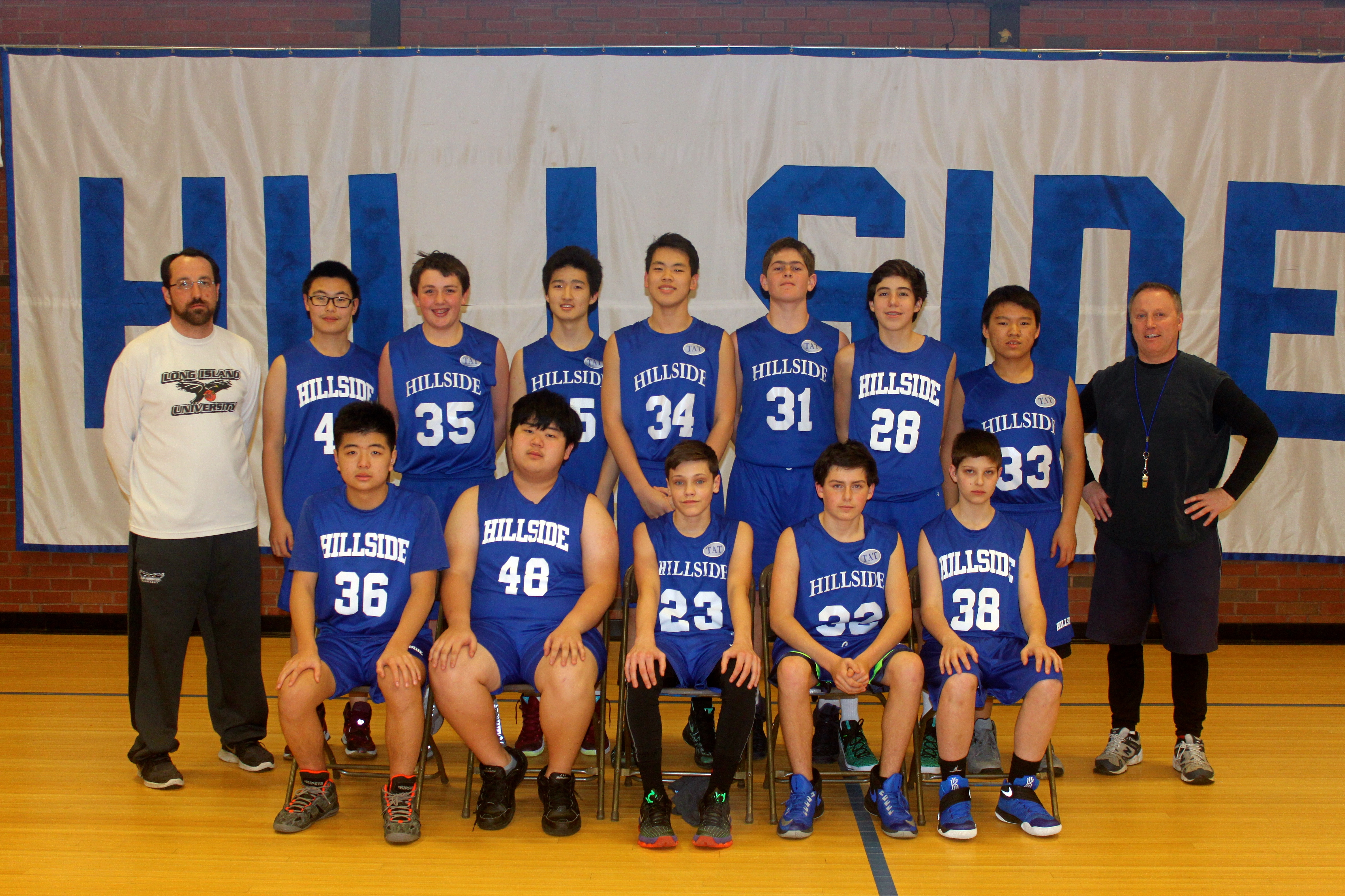 Hillside School JV Basketball team