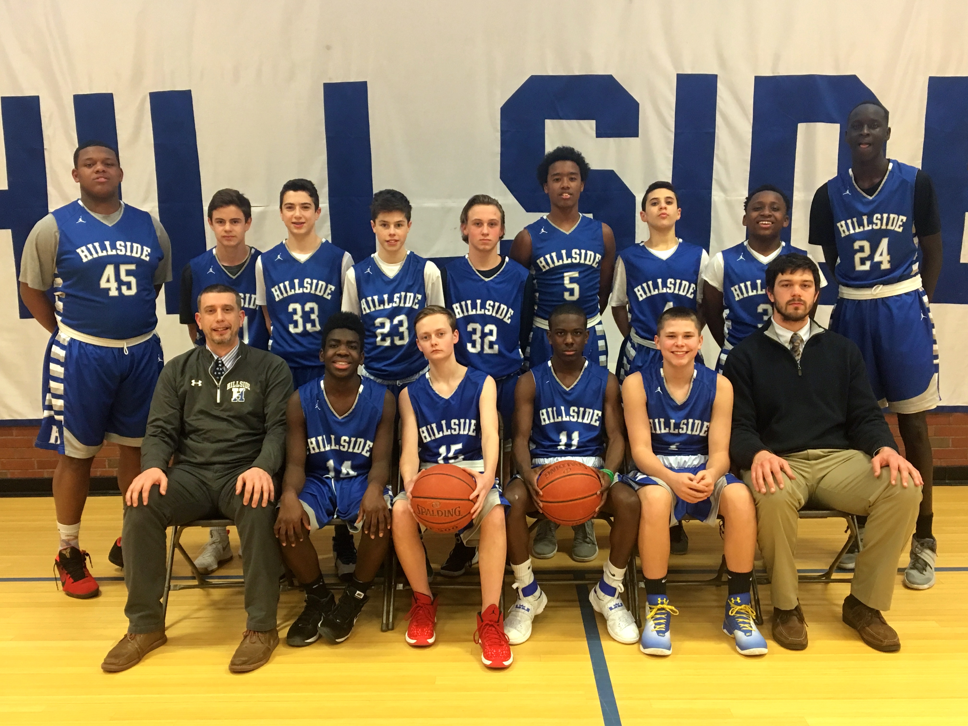 Hillside School Varsity Basketball team